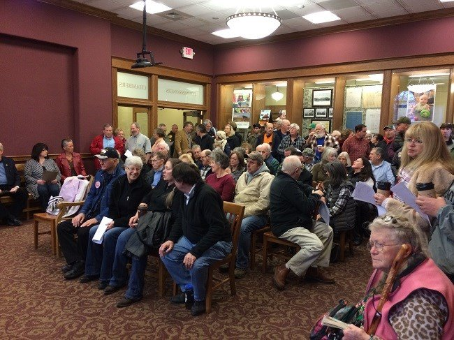 About 150 people turned out for Thursday's meeting (MTN News photo/Dax VanFossem)