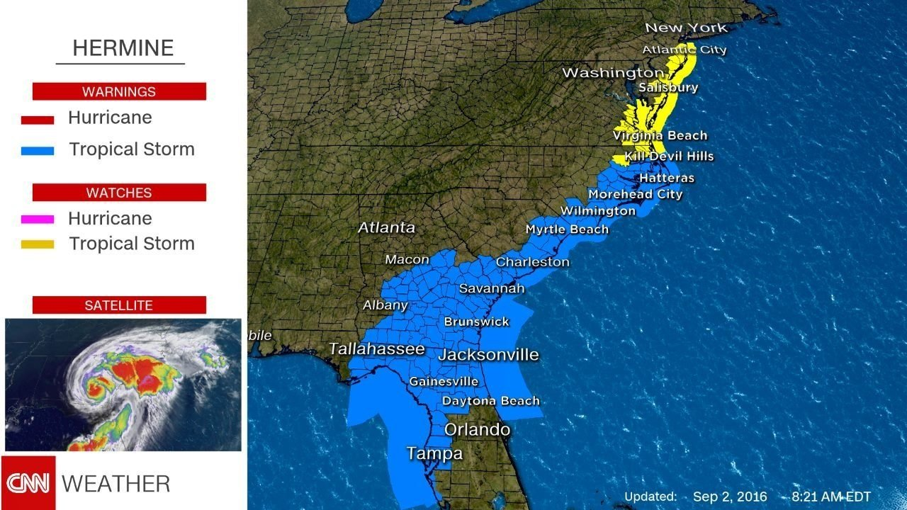 Central New Jersey: Hermine Could Bring Significant Storm To Region