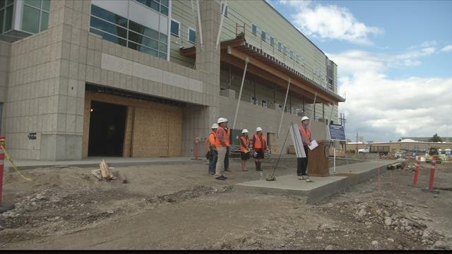 Gov. Bullock visited the site of the new Missoula College. (MTN News photo)