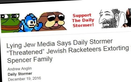 """The Daily Stormer"" screenshot"
