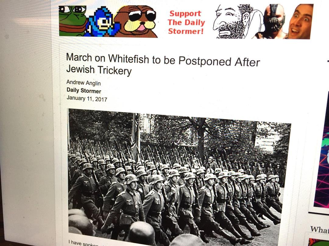 Image from The Daily Stormer website. (MTN file photo)
