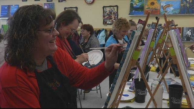 Painting with a Twist offers art classes. (MTN News photo)