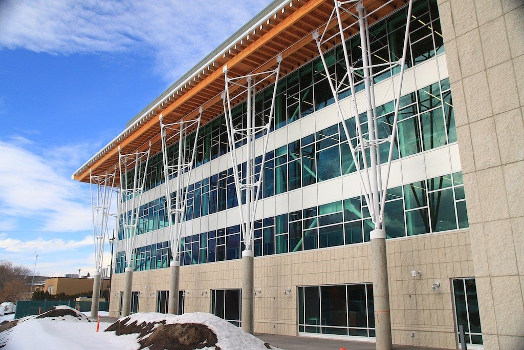 In about two weeks Missoula College will start moving into its new home above the Clark Fork River. (Dennis Bragg photo)
