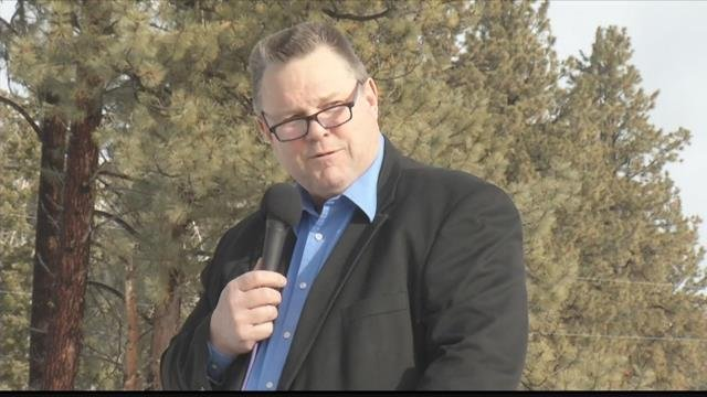 Sen. Tester announced his plans in Ovando on Feb. 22, 2017)
