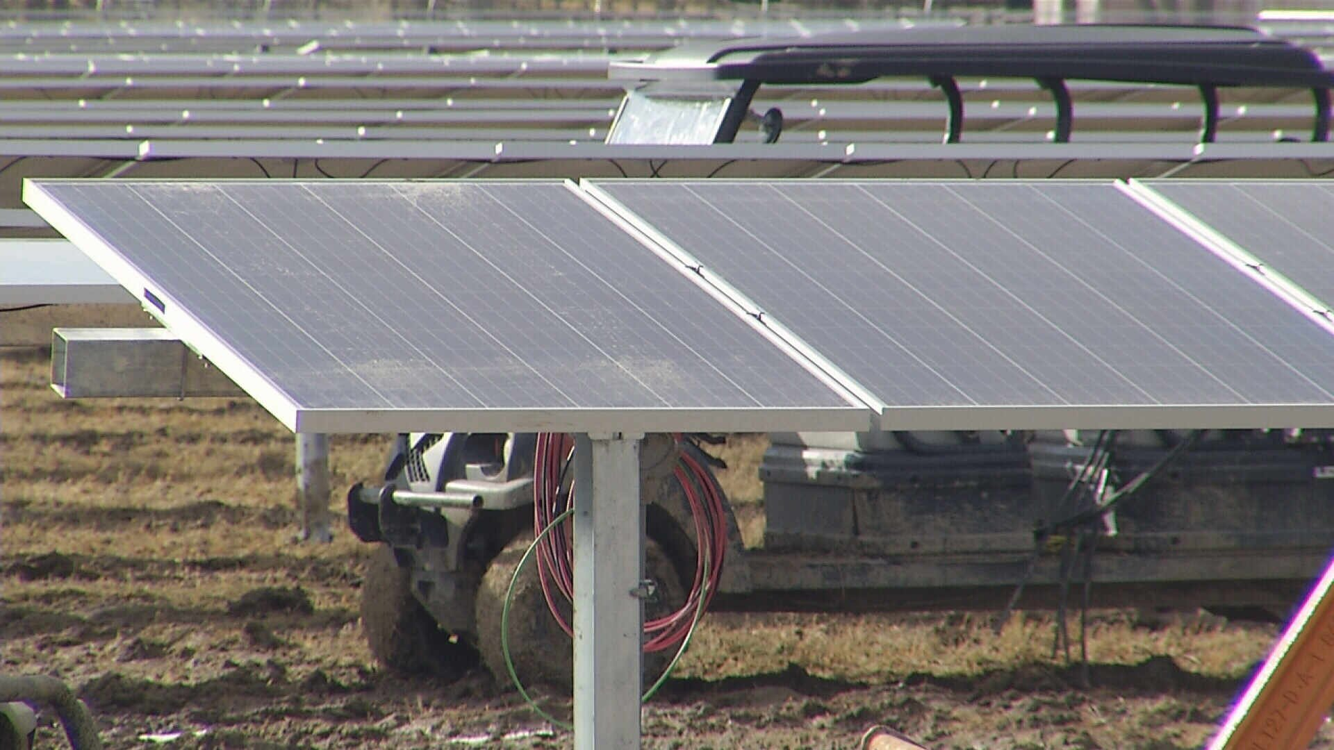 Two solar energy farms are under construction near Hardin and Reed Point. (MTN News photo)