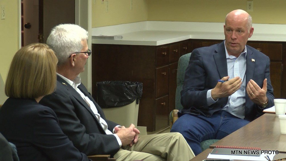 Greg Gianforte, the Republican candidate for Montana's seat in the U.S. House of Representatives, stopped in Great Falls on Tuesday to talk with agricultural leaders.