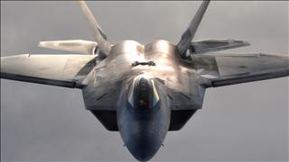 File photo of a F-22 Raptor jet (photo credit: Dana Rosso / USAF)