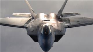 File photo of a F-22 Raptor jet (photo credit: Dana Rosso / USAF)