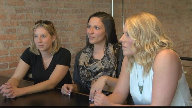 Erin O'Reilly, Angela Hawkaluk, Lauren Lofts and a friend are planning to take the trip of a lifetime in May. (MTN News photo)