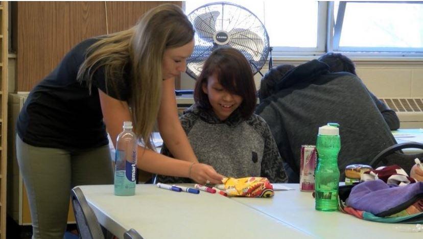 "Paris Gibson Education Center educatorJordannLankfordhas been named as Montana's ""Indian Teacher of the Year."" (MTN News photo)"