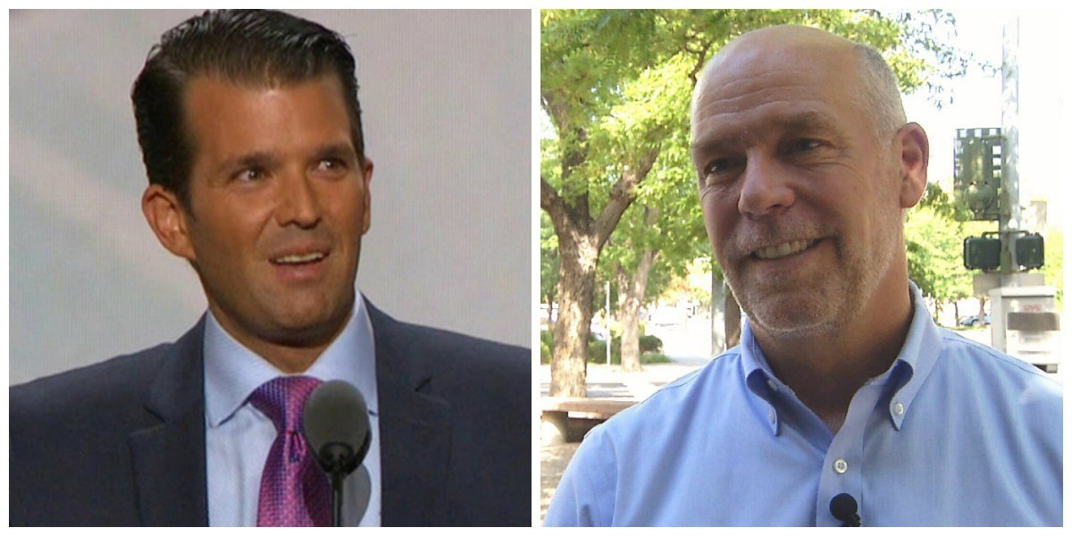 The son of President Donald Trump will campaign for Republican candidate Greg Gianforte, who is vying for the lone U.S. Congressional seat in Montana.