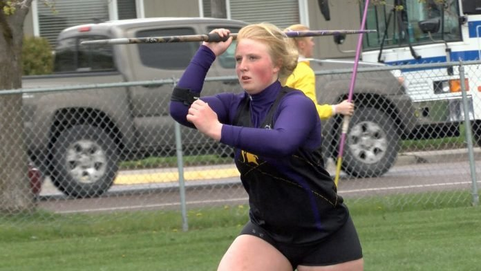 Missoula Sentinel's Emily Malone has the 8th best javelin throw in the country this season. (MTN Sports photo)