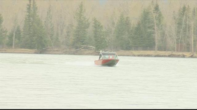 The man was last seen going under the water on the Flathead River on Wednesday evening. (MTN News photo)