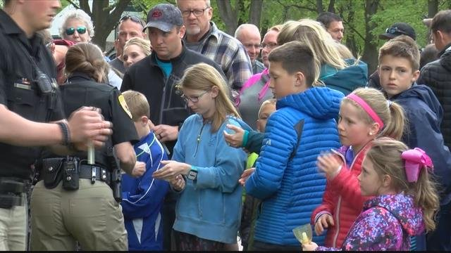 More than 100 people gathered to honor the life of a man who many never met, but consider a hero. (MTN News photo)