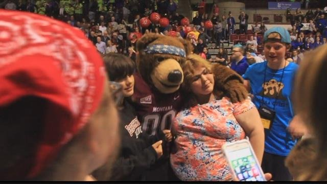 Weather forced the opening ceremonies for the Montana Special Olympics Summer Games in Missoula to be move indoors. (MTN News photo)