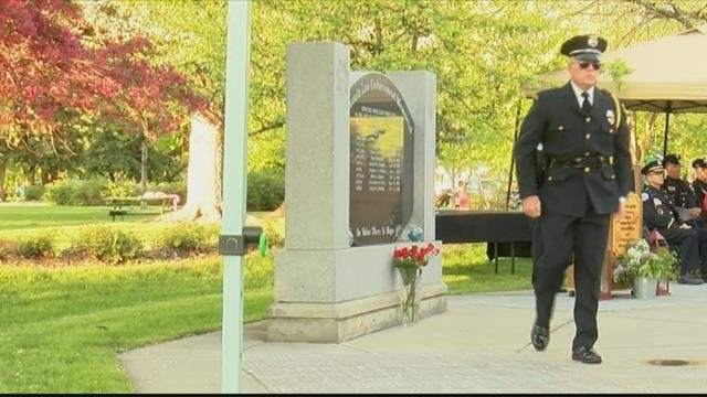 The annual Police Week memorial is an emotional reflection on the service of our uniformed officers. (MTN News photo)