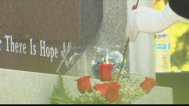 The memorial service is held each year at the Rose Memorial Garden in Missoula. (MTN News photo)