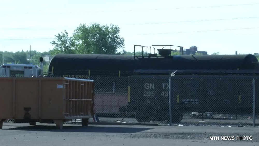 A BNSF spokesman says that seven cars derailed, and that only two of the cars were loaded.