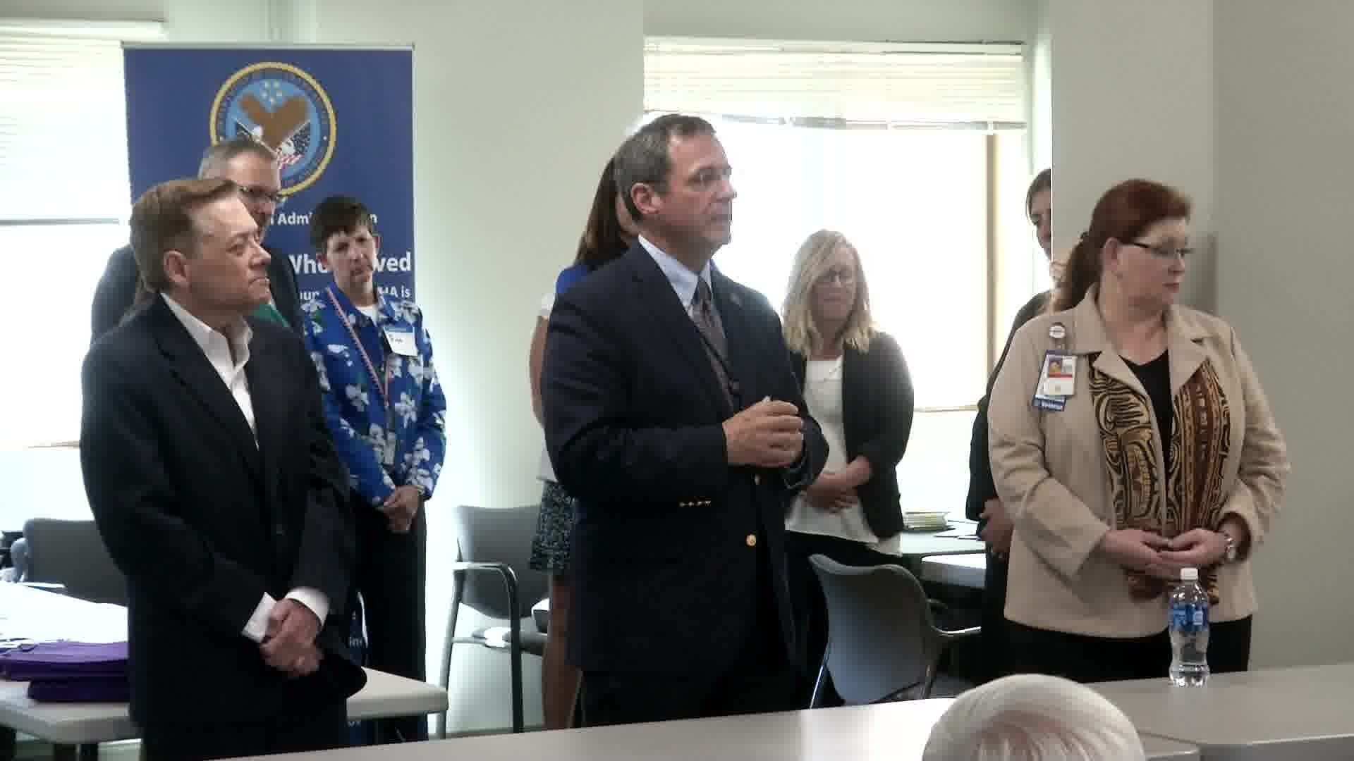 Several of the people in attendance asked questions about the future of the Veterans Choice Program. (MTN News photo)
