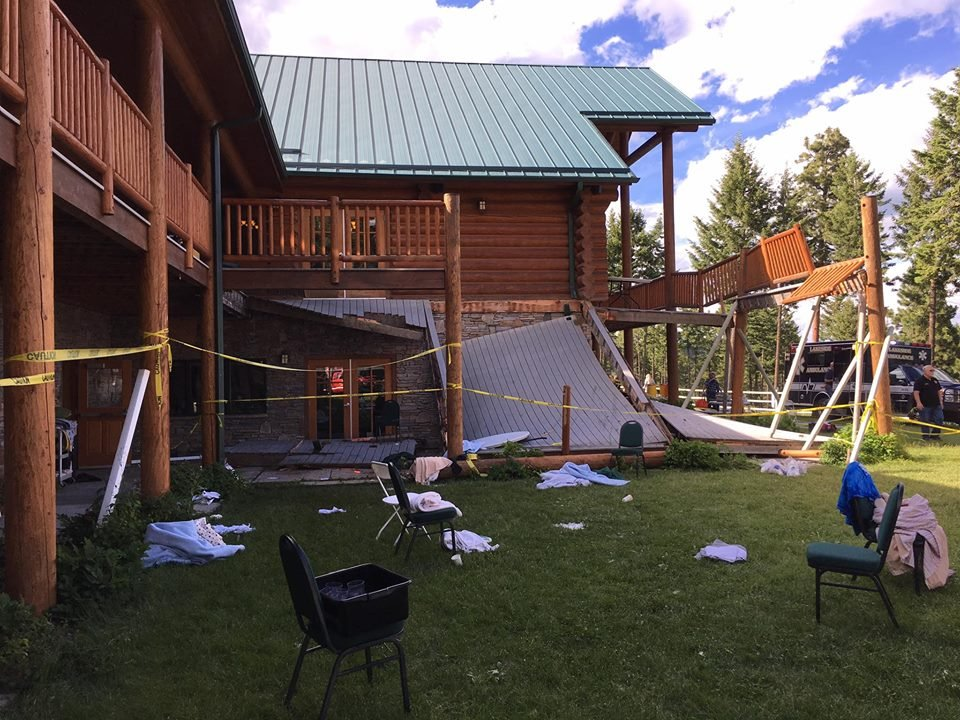 Deck collapses at Montana lodge, injuring more than 25