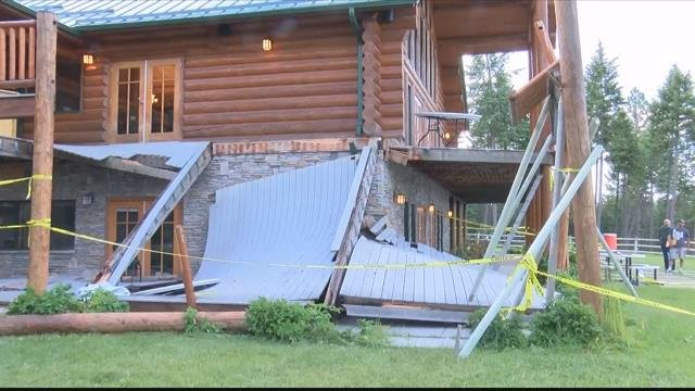 A deck collapsed near Lakeside on 6.17.17 triggering a mass casualty incident. (MTN News photo)