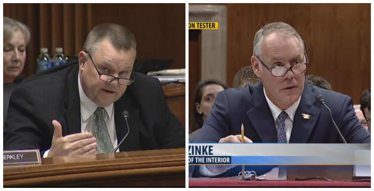 "Senator Tester asked Zinke how he and President Trump can put forth a budget that in his words, ""lacks vision"" by cutting the program that much."