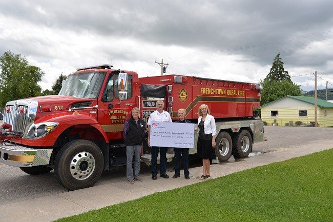AAA MountainWest awards ten rural fire department grants each year, each for $1,000. (photo credit AAA)