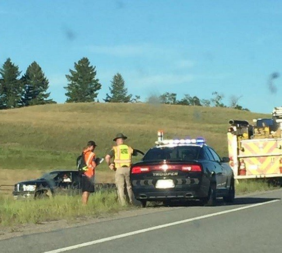The accident happened on Highway 200 near Ovando. (MTN News/Tim McGonigal photo)