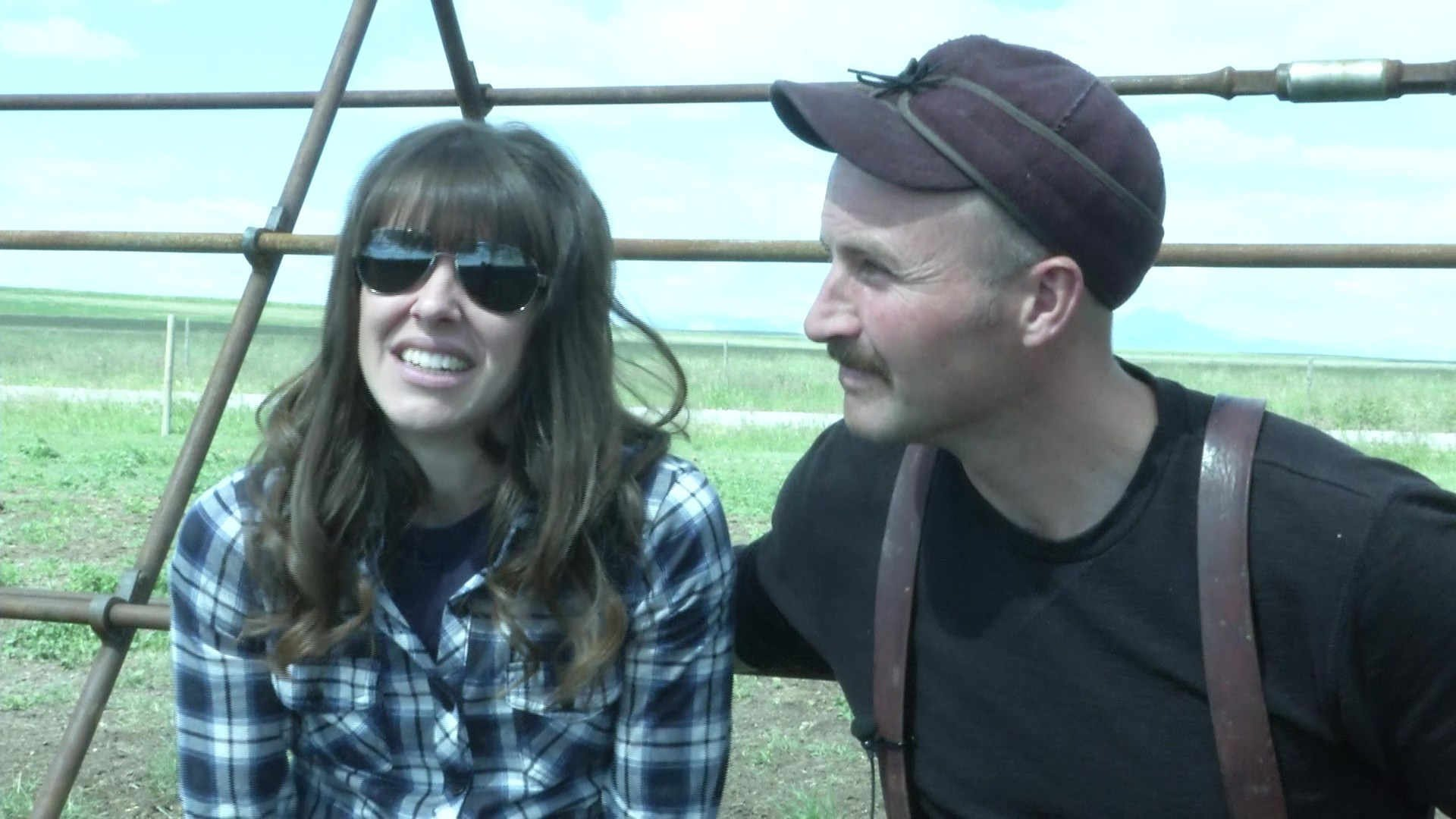 """""""If you can use something that was useless and make it useful, that to me is just a lot of fun,"""" said rancher Brandon Richert. (MTN News photo)"""