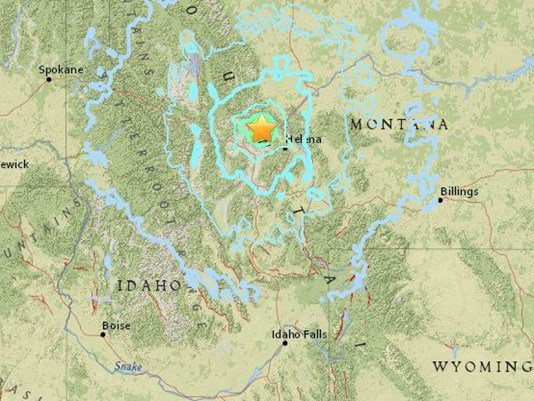 5.8 quake  hits near Helena, Montana