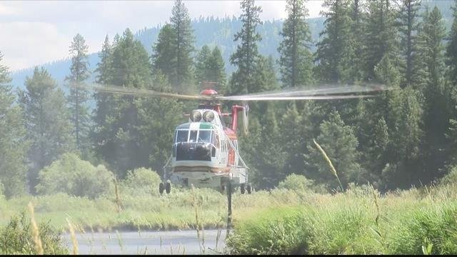 Ground and air resources are being used against the Lazier Creek 3 fire. (MTN News photo)