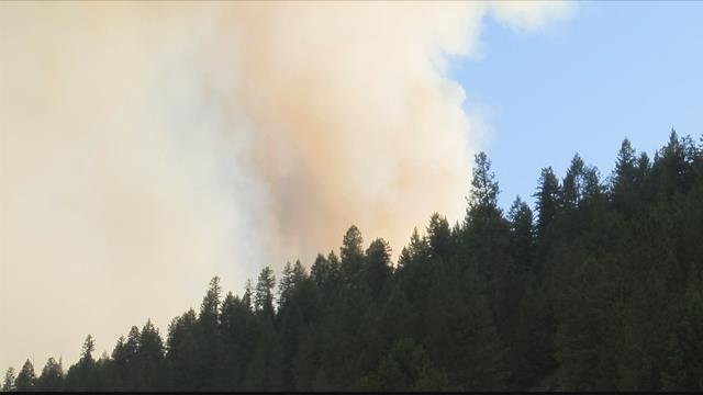 The Lazier Creek 3 fire is burning near the Bend Guard Station in Sanders County. (MTN News photo)
