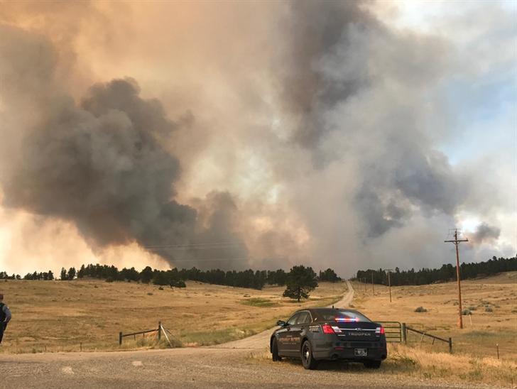 The North Delphia Fire (Brandon Sullivan/MTN News)