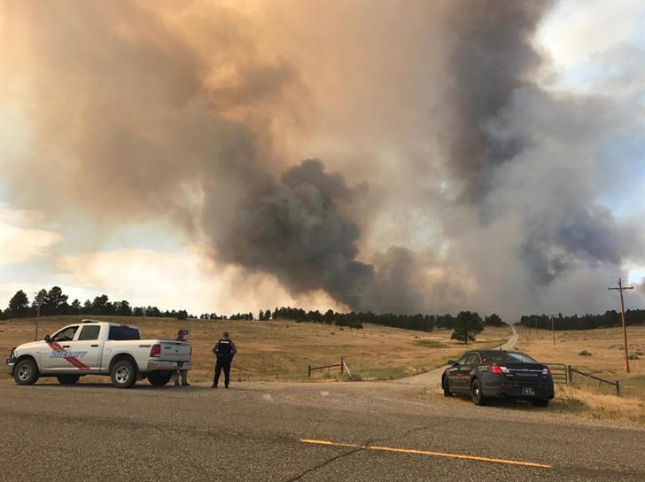 The North Delphia Fire. (Brandon Sullivan/MTN News)