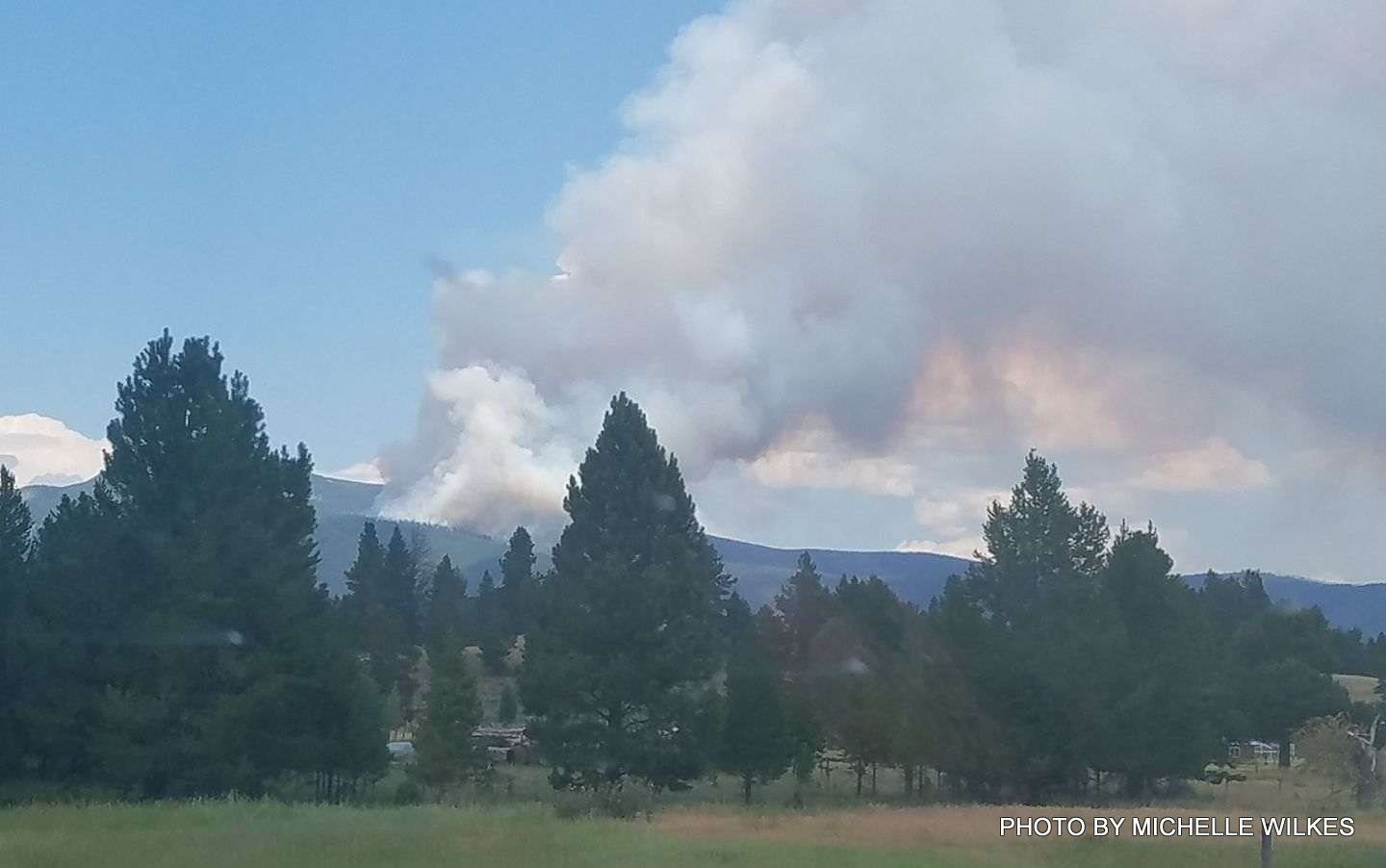 The lightning-sparked Park Creek Fire has burned more than 40 acres north of Lincoln.