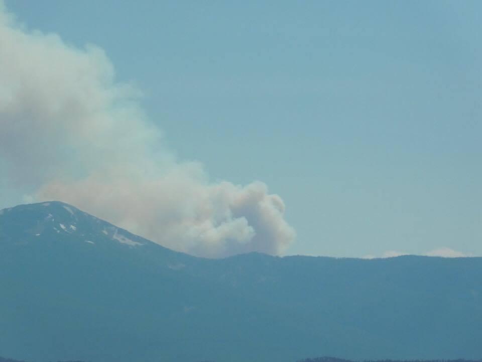 The Lolo Peak fire (photo credit: Brandon Allen)
