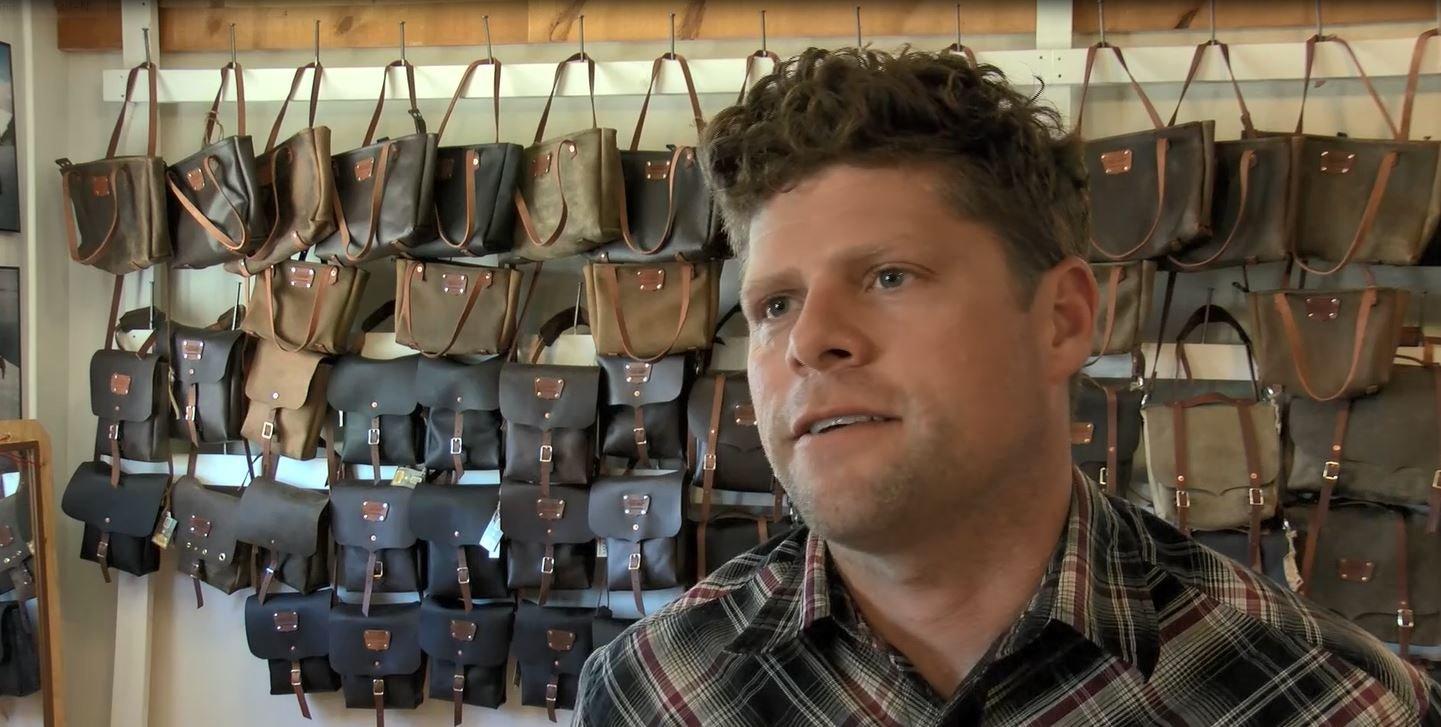 GoertzenAdventure Equipment owner Joe Goertzeninside his Missoula shop. (MTN News photo)