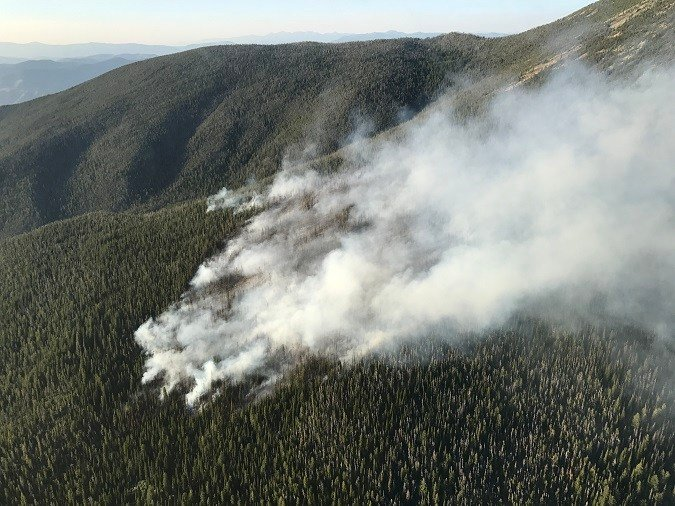 The Lolo Peak fire was frist spotted on July 17, 2017. (Lolo National Forest photo)