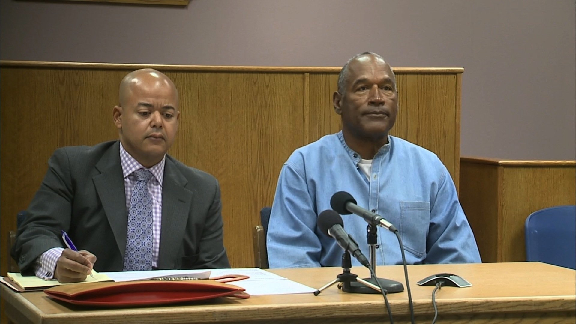 O.J. Simpson, 70, appears in court for his parole hearing on July 20, 2017. (POOL image)