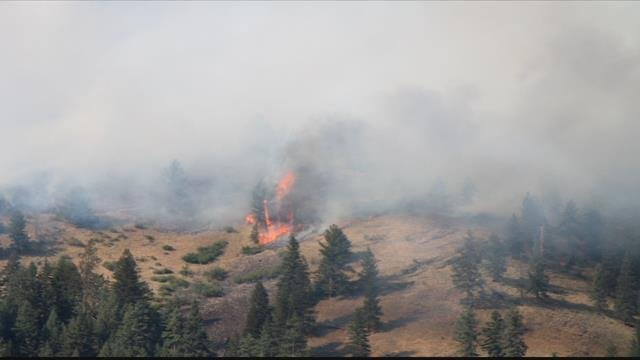 The Goat Fire in Granite County (photo credit Loren Barker)