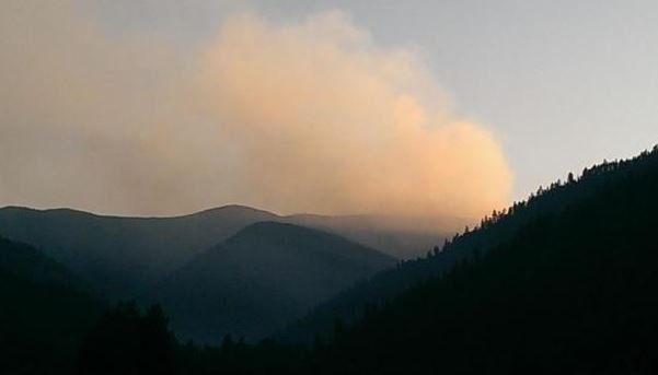 The Sunrise fire is burning between Alberton and Superior. (Lolo National Forest photo)