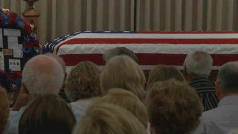 The funeral for Captain Robert Holton was held 48 years after he was killed while serving in southeastAsia. (MTN News photo)
