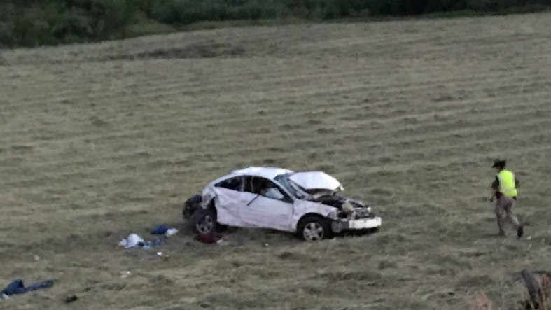 A man is dead after rolling his vehicleon Bridger Canyon Drive at around 9 p.m.on Sunday night.(MTN News photo)