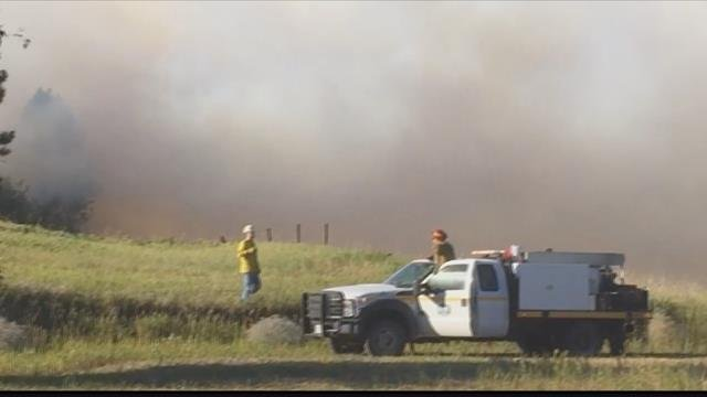 The fire quickly grew to two acres before being contained. (MTN News photo)