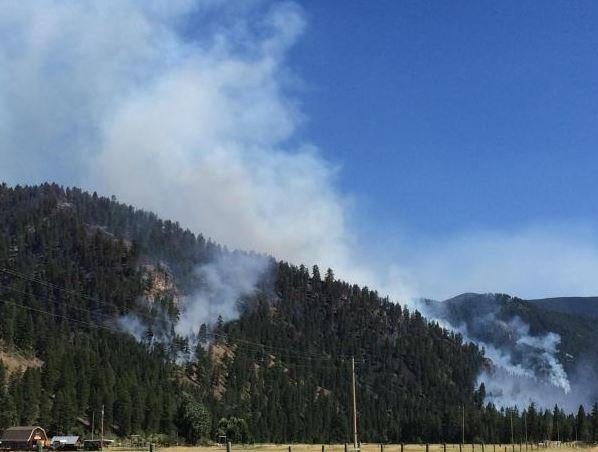 Evacuations have been lifted  near the Goat Creek fire. (USFS photo)