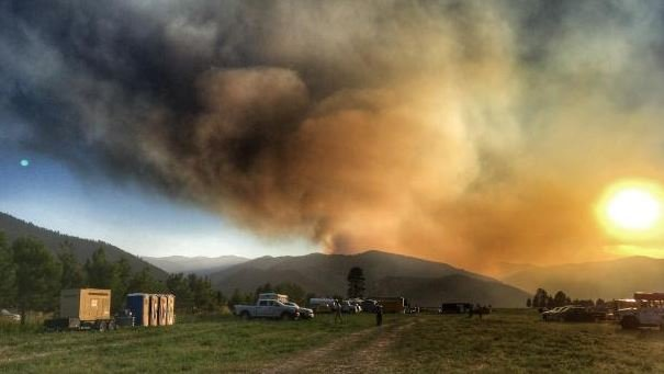 View of Sunrise Fire from Fire Camp (Credit: Jennifer Russell)