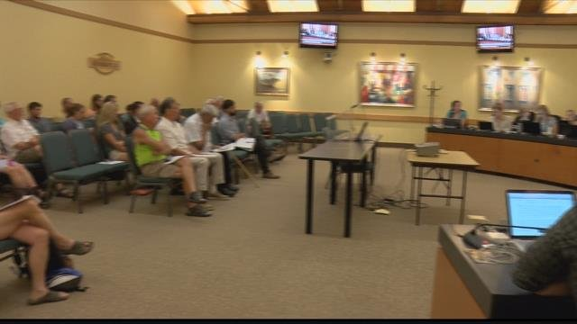Several residents voiced concerns over the nearly 4% hike in taxes. (MTN News photo)