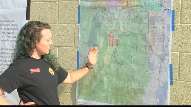 """""""Yesterday, we had an increase in fire activity due to a couple of spots and runs,""""says Lolo Peak Fire PIOLeigh Golden."""