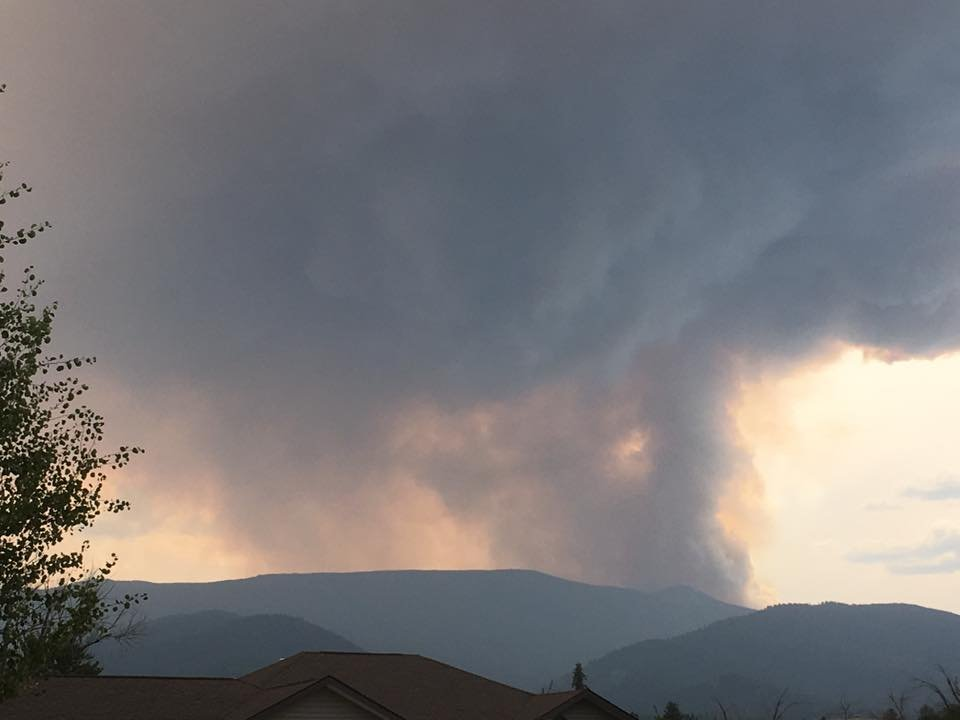 The Lolo Peak fire flared up again on Wednesday afternoon. (MTN News/Mark Thorsell photo)