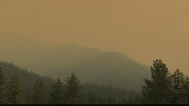 The Sunrise fire in Mineral County has forced evacuations. (MTN News photo)